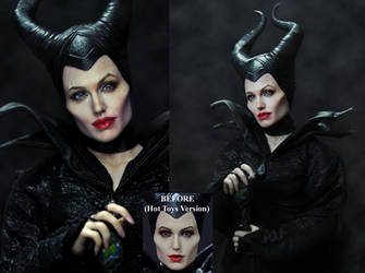 Hot Toys Doll Repaint Angelina Jolie Maleficent