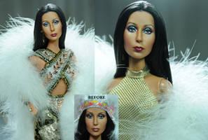 Mattel Cher doll repaint by Noel Cruz
