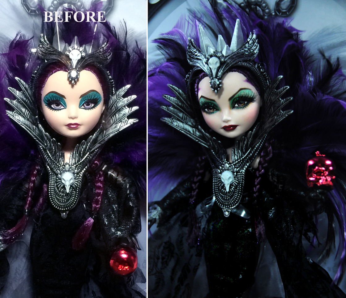 sdcc 2015 ever after high raven queen doll repaint by