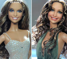 JLo Jennifer Lopez doll repaint by Noel Cruz