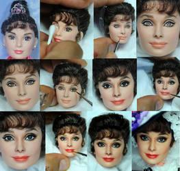Repaint Process - My Fair Lady Audrey Hepburn doll