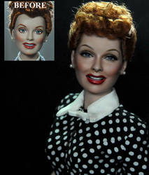 I LOVE LUCY LUCILLE BALL doll repaint