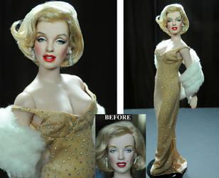 Marilyn Monroe doll - custom repaint by Noel Cruz by noeling