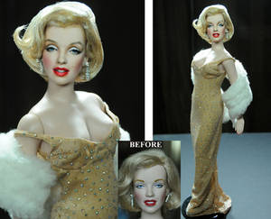 Marilyn Monroe doll - custom repaint by Noel Cruz