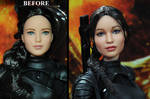Hunger Games Katniss Everdeen doll custom repaint