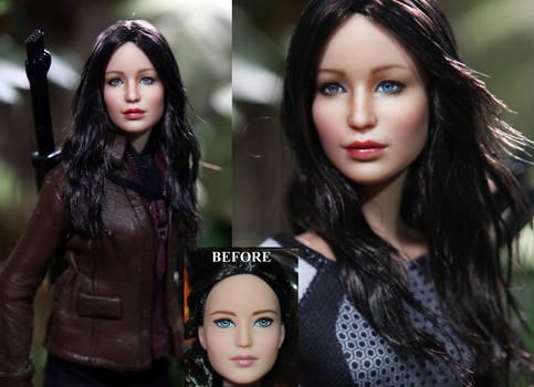 Hunger Games Katniss Everdeen doll custom repaint