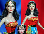 Doll Repaint - Lynda Carter as Wonder Woman