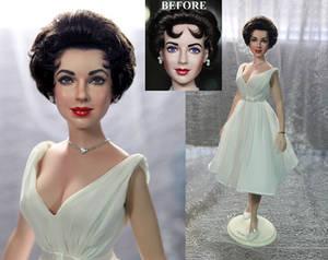 Elizabeth Taylor doll repaint by Noel Cruz