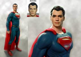 Henry Cavill Superman custom doll / figure repaint