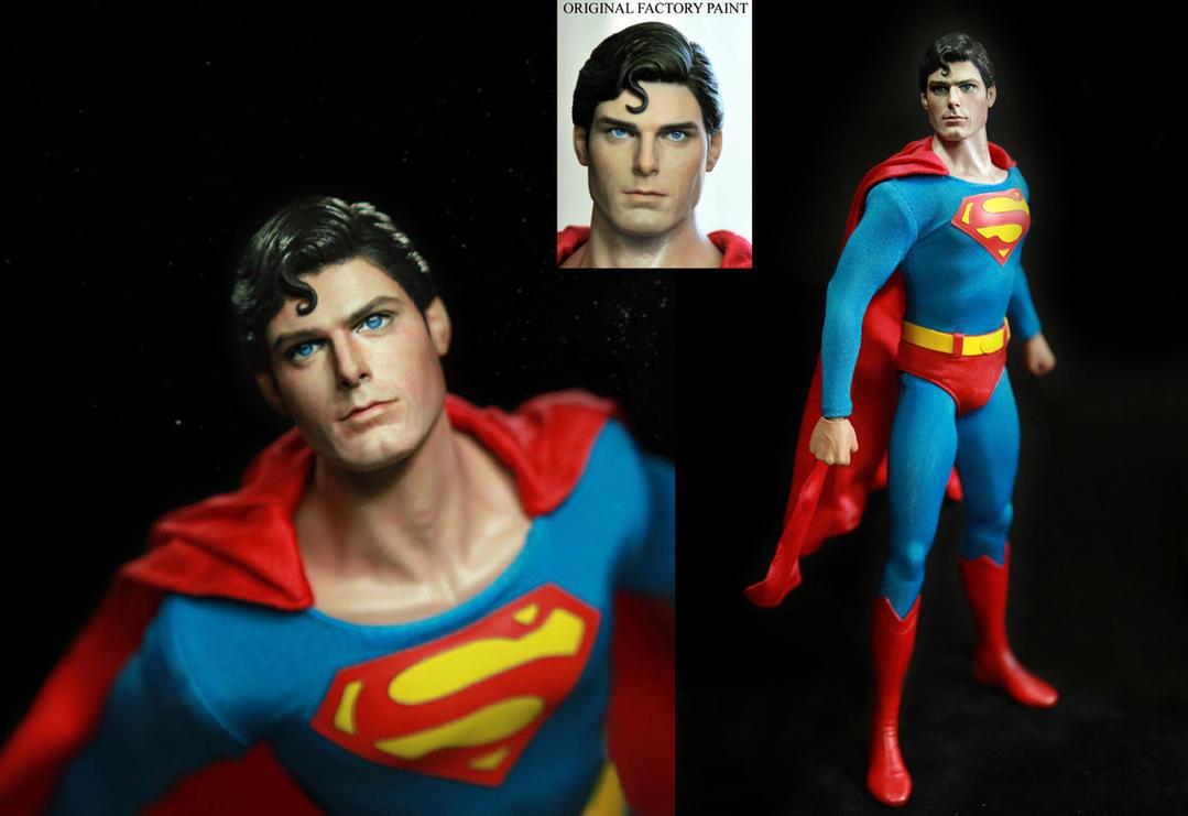 Hot Toys Superman Christopher Reeve Figure Repaint By Noeling