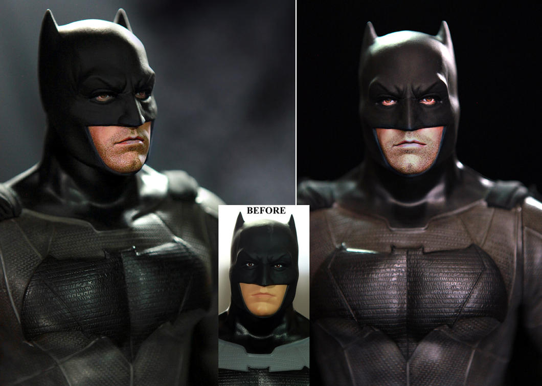 Ben affleck batman custom doll figure repaint by noeling - Ben affleck batman wallpaper ...