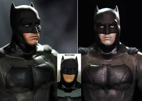 Ben Affleck Batman custom doll / figure repaint