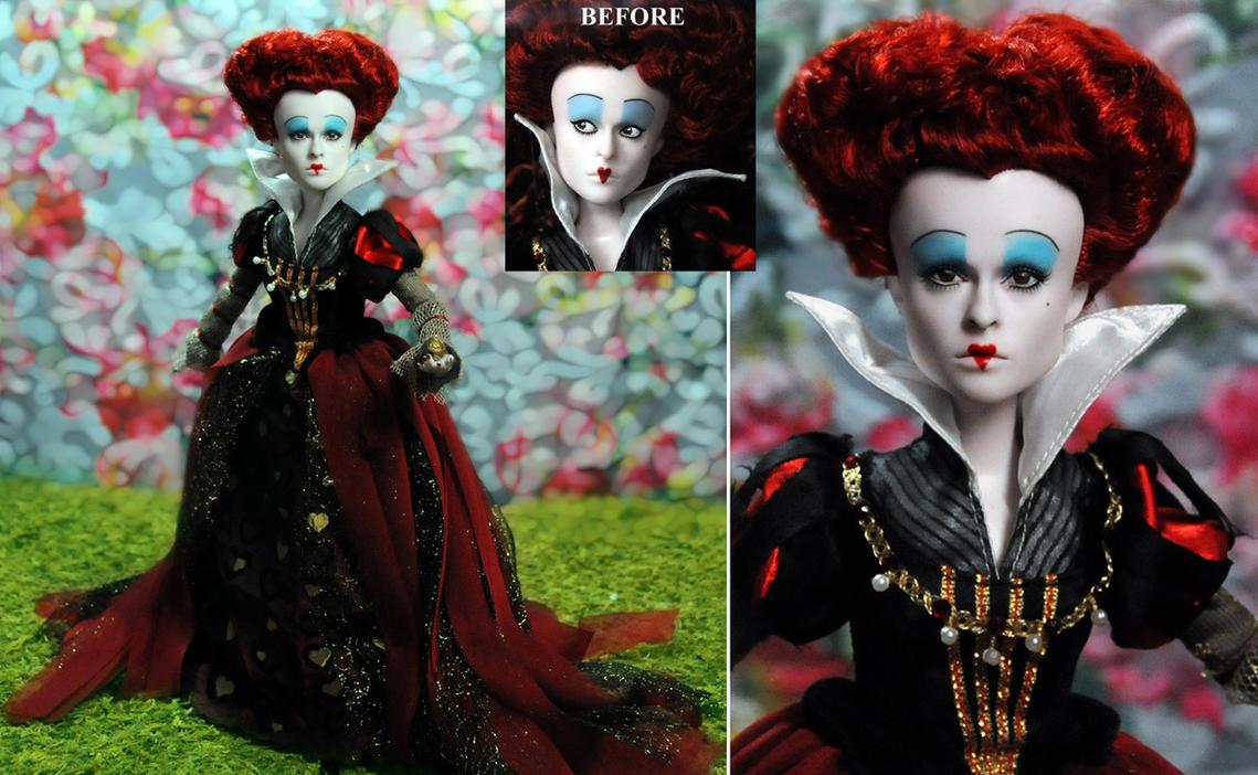 Red Queen custom doll repaint by Noel Cruz by noeling
