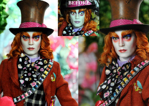 Mad Hatter custom doll repaint by Noel Cruz