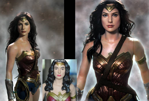 Wonder Woman Gal Gadot custom doll repaint