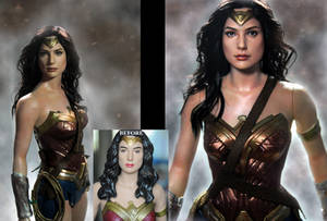 Wonder Woman Gal Gadot custom doll repaint