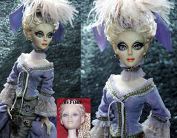 Gothic Evangeline Ghastly doll repaint