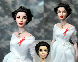 Elizabeth Taylor custom repaint doll by Noel Cruz