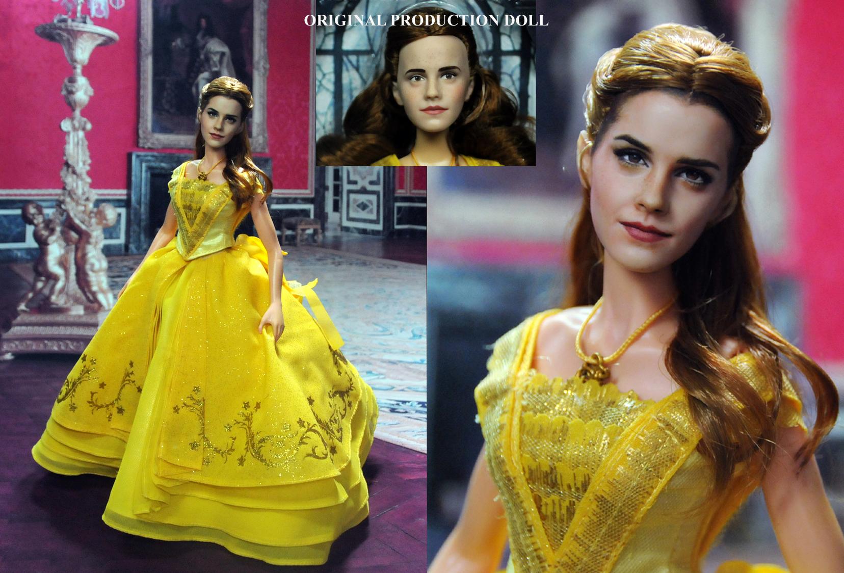 Doll Repaint Emma Watson Beauty and Beast Belle by noeling