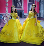 Before and After Doll Repaint Emma Watson as Belle