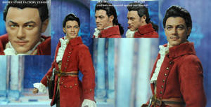 Doll Repaint Luke Evans Beauty and Beast Gaston