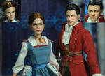 Doll Repaint Beauty and Beast Belle and Gaston by noeling