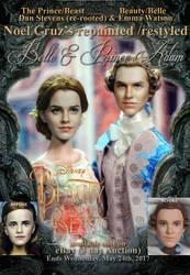 Doll Repaint Beauty and Beast Belle n Prince Adam by noeling