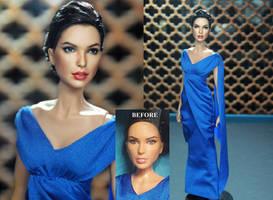 Gal Gadot Wonder Woman Diana Prince doll repaint by noeling