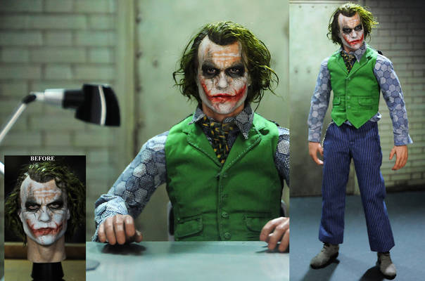 Repaint of 1/6 figure Heath Ledger Joker head