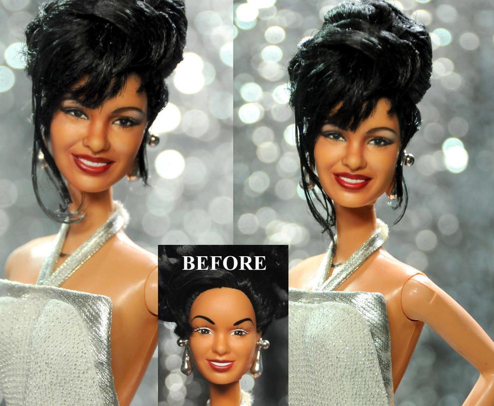 Selena Quintanilla Grammy doll custom repaint by noeling