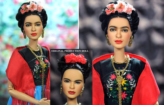 Frida Kahlo custom doll repaint by Noel Cruz