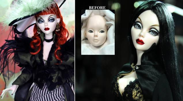 Gothic Evangeline Ghastly resin doll repaint
