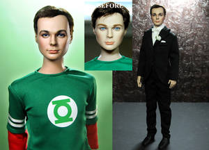 The Big Bang Theory Sheldon Cooper doll repaint