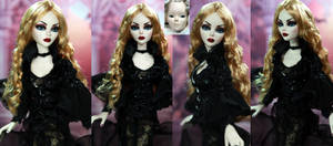 Evangeline Ghastly gothic - resin doll repaint by noeling
