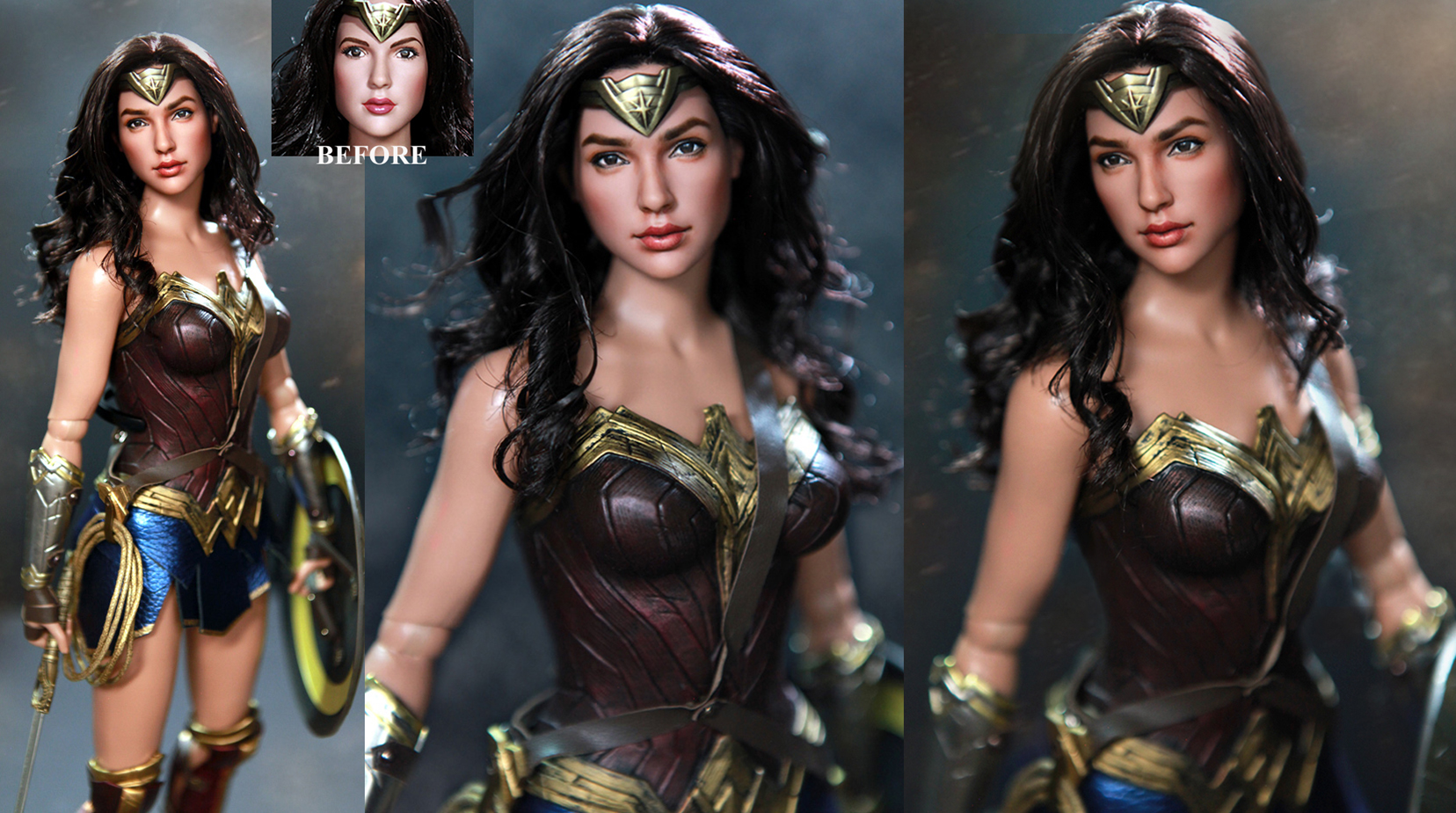 Tonner Wonder Woman Gal Gadot custom doll repaint