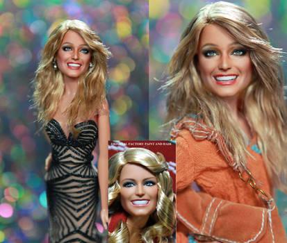 Farrah Fawcett Charlie's Angels doll art repaint