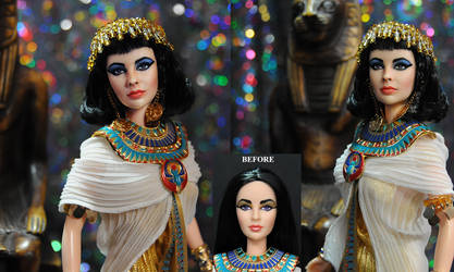 Doll Repaint Elizabeth as Taylor Cleopatra
