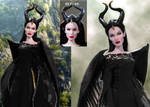 Doll Repaint Angelina Jolie Maleficent Disney