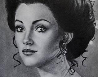 Jane Seymour drawing portrait by noeling