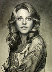 Lindsay Wagner as Jaime Sommers the Bionic Woman by noeling