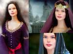 Doll repainted as Arwen
