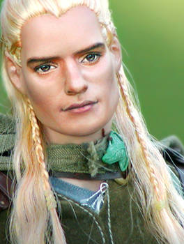 Doll Repainted as Legolas