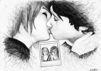 Life is strange_Kiss (Max and Warren) by Lyndriel