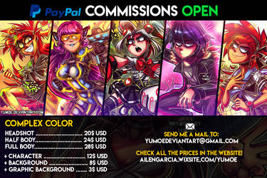 Commissions Complex Color - OPEN! 2019 by Yumoe