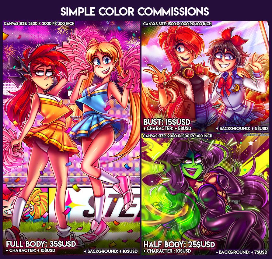 Simple color commissions