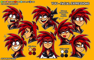 Yuu Facial expressions 2019 by Yumoe