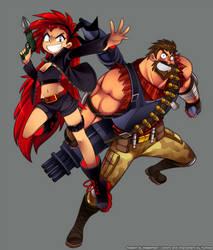 Yuu and greg by Bleedman