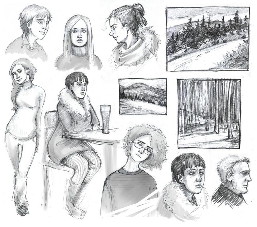 sketches 2 by A-z-e-k
