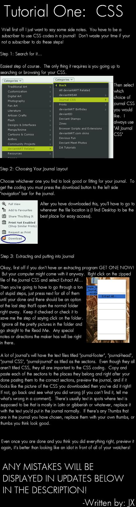 Tutorial 1 - JOURNAL CSS by Jeriko-X