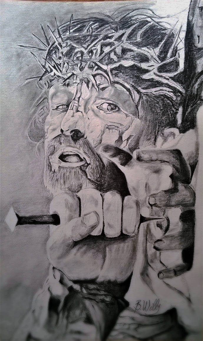 Pencil drawings of jesus by bovily